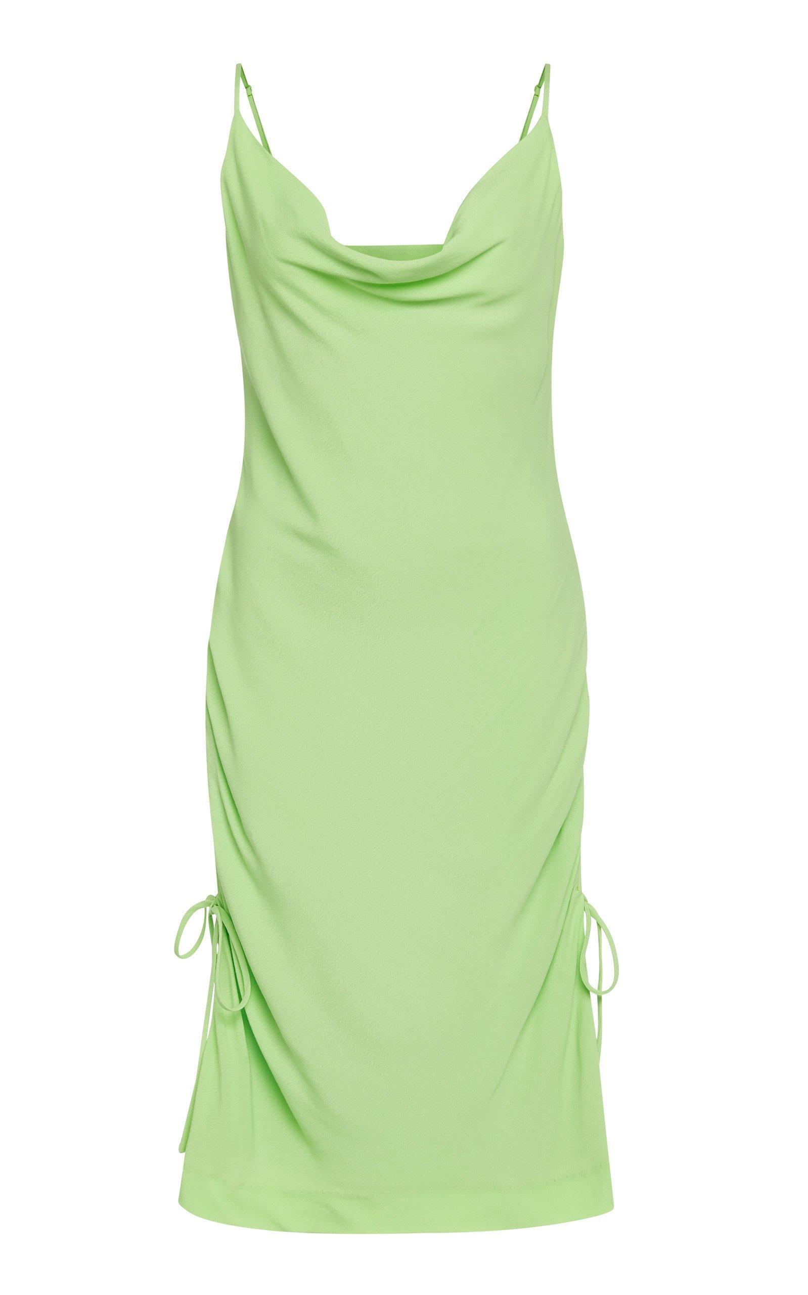 Staud Tarte Ruched Crepe Mini Dress