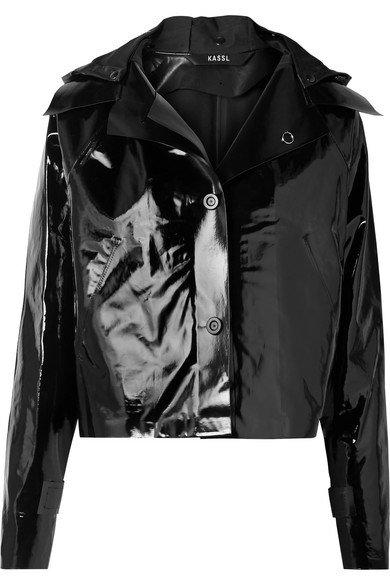 Kassl Editions   Cropped coated cotton-blend jacket   NET-A-PORTER.COM