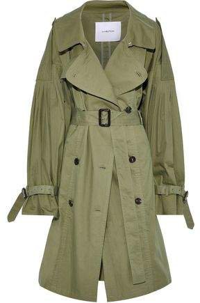 Pushbutton Cotton-gabardine Trench Coat