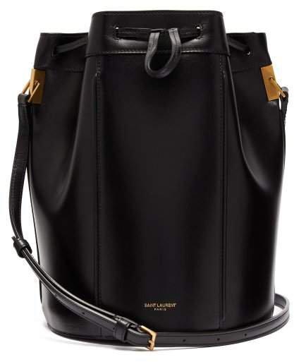 Talitha Smooth Leather Bucket Bag - Womens - Black