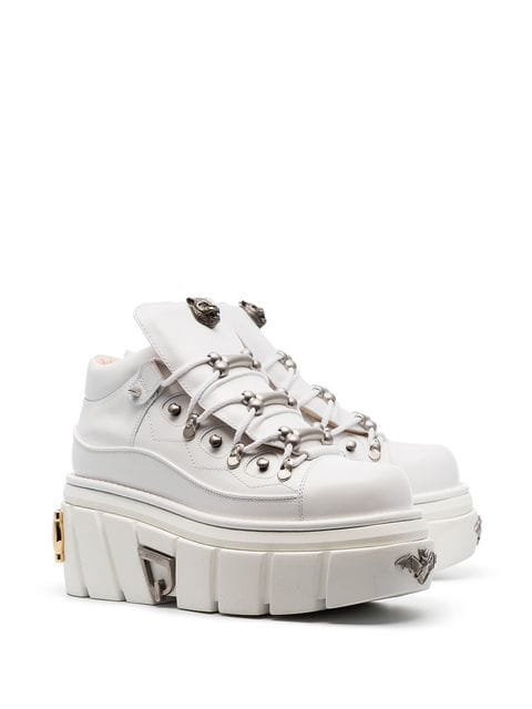 Gucci white Flashtrek chunky leather low-top sneakers