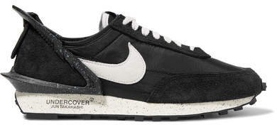 Undercover Daybreak Shell, Suede And Leather Sneakers - Black