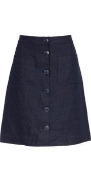 Tory Burch Button Front Linen Skirt   Nordstrom