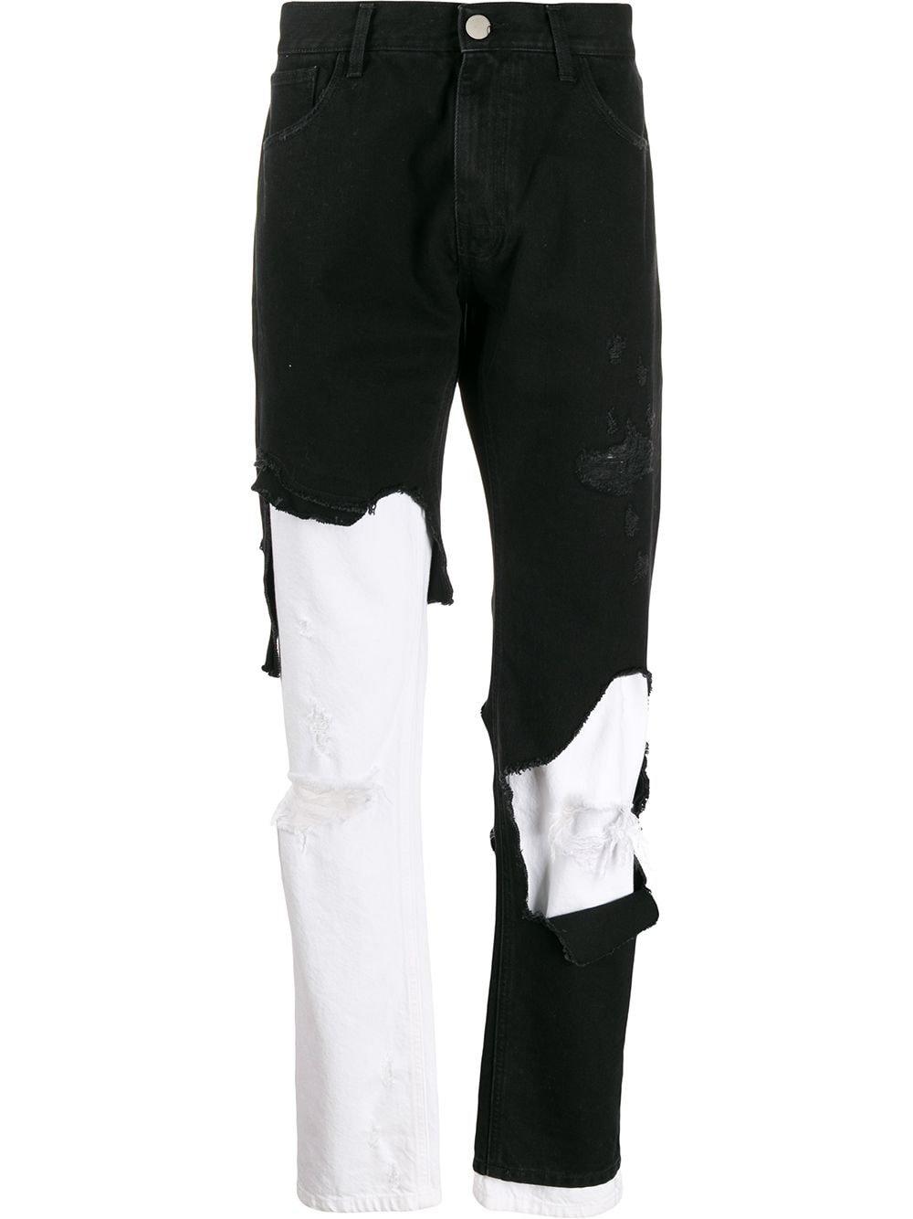 Raf Simons Destroyed Slim Fit Jeans   Farfetch.com