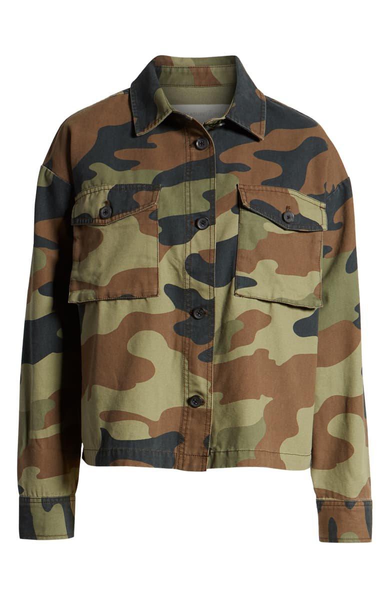 Treasure & Bond Camo Military Jacket brown
