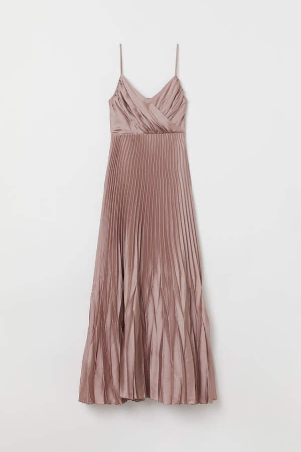 Pleated Long Dress - Pink
