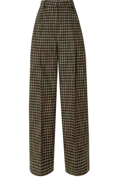 Beaufille | Valli checked twill straight-leg pants | NET-A-PORTER.COM