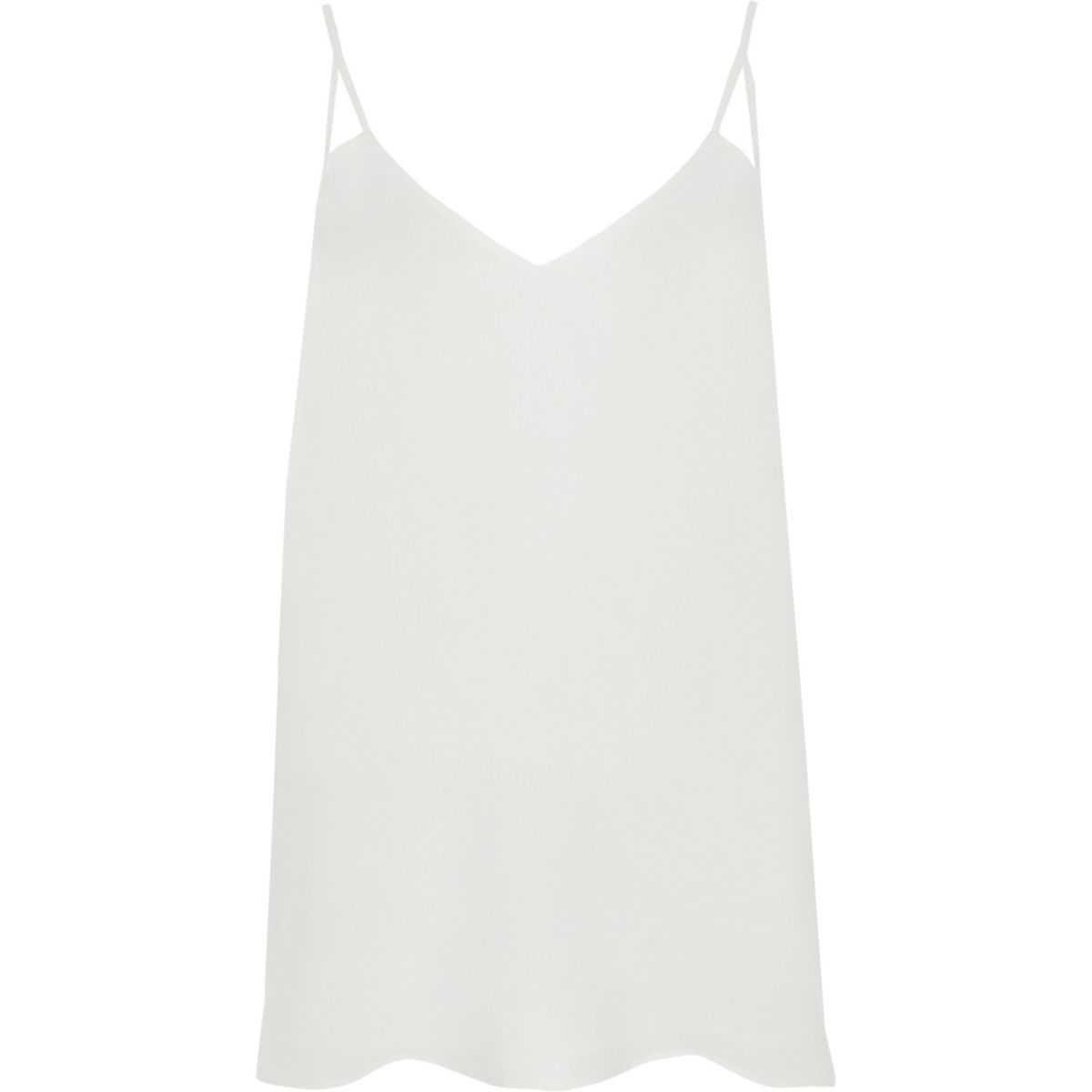 White split strap cami top | River Island