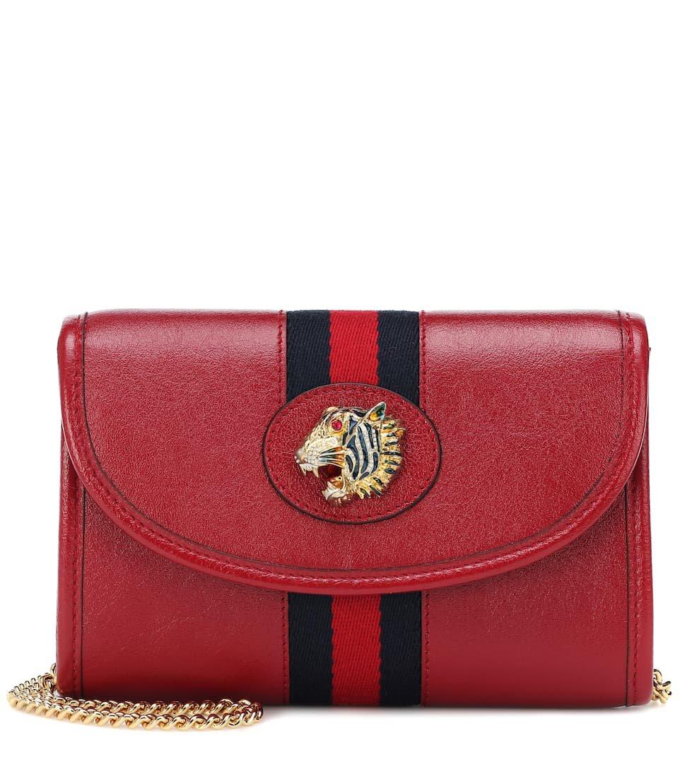 Rajah Mini Leather Shoulder Bag - Gucci | Mytheresa