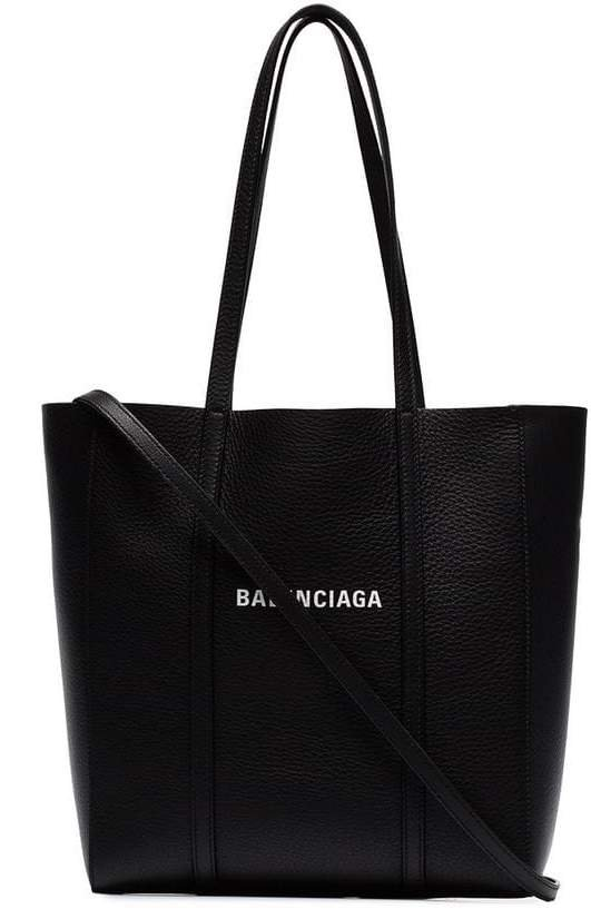 black everyday XS leather tote