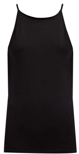 Liana Cotton Blend Tank Top - Womens - Black