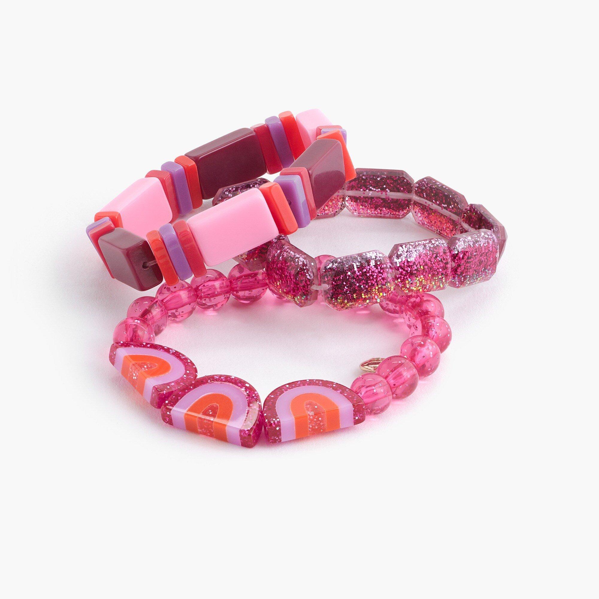 J.Crew: Girls' Rainbow Bracelet Three-pack