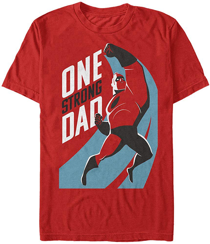 Amazon.com: The Incredibles 2 Men's One Strong Dad Red T-Shirt: Clothing