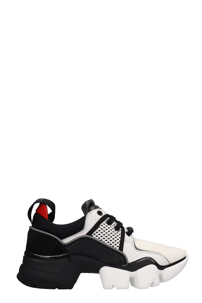 Givenchy Black White Fabric Jaw Low Sneakers