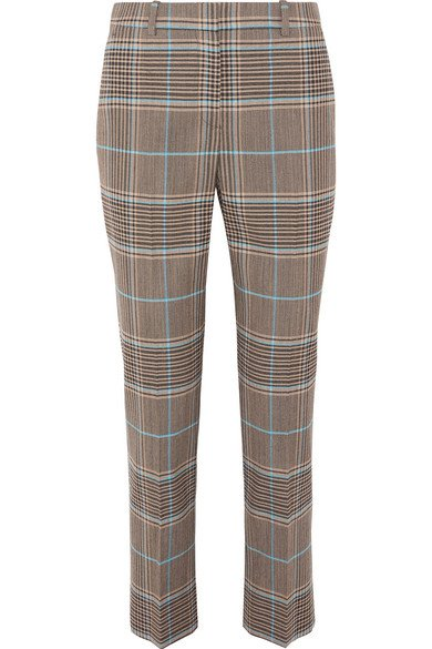 Givenchy | Checked wool-blend straight-leg pants | NET-A-PORTER.COM