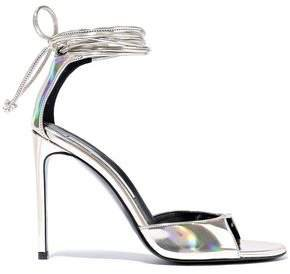 Iridescent Faux Leather Sandals