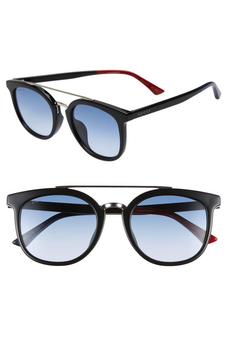 Gucci 52mm Round Sunglasses   Nordstrom